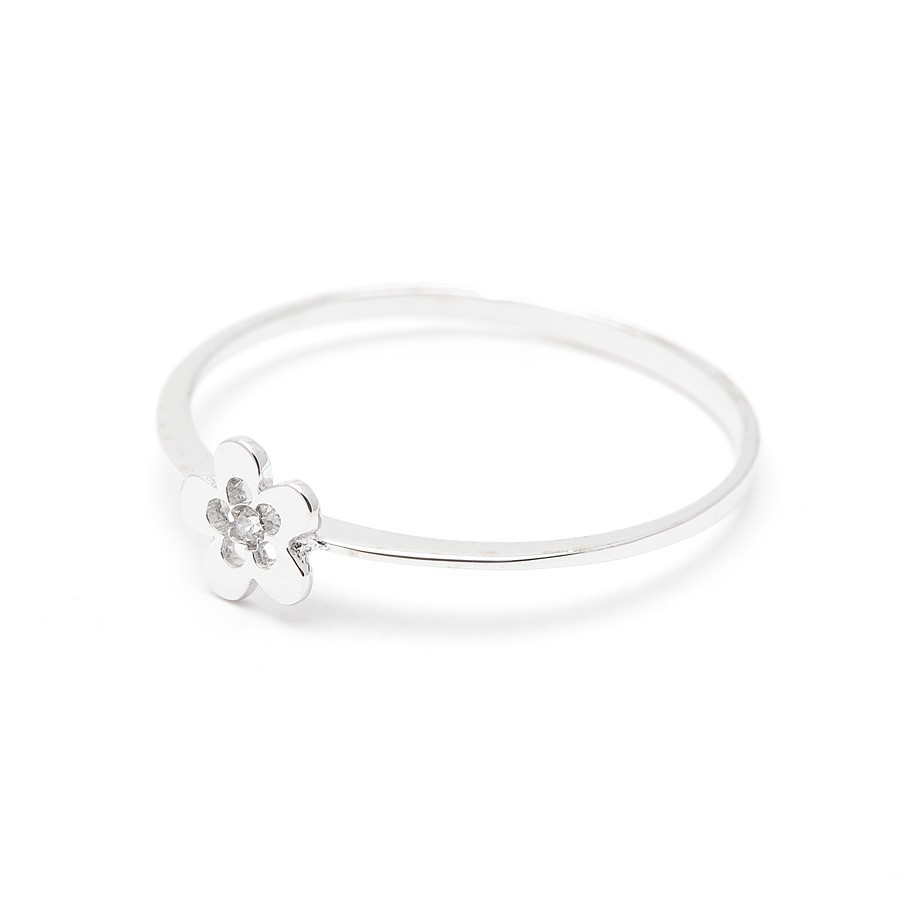 Sortija Oro Blanco Flor