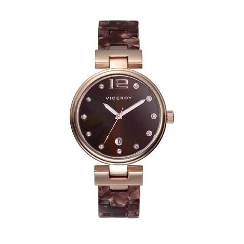 Reloj Viceroy Femme Dorado Marrón 47696-45