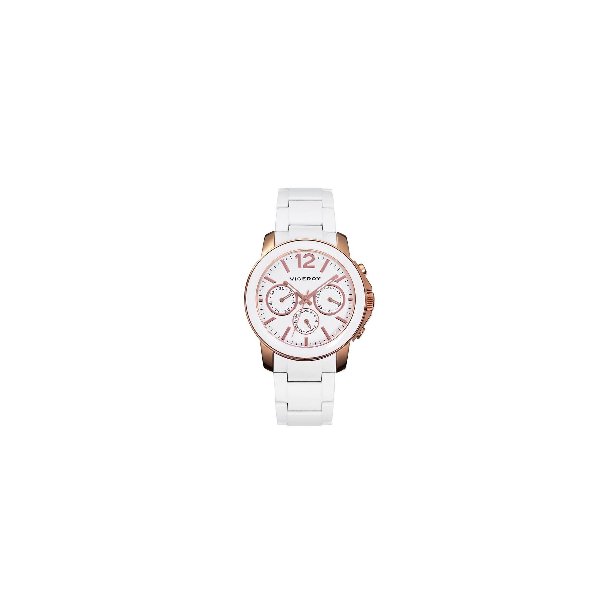 Reloj Chica Viceroy Femme Dorado Brazalete Blanco 47698 05