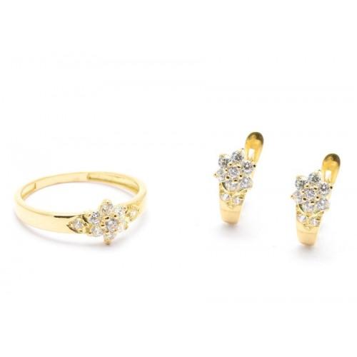 Conjunto Oro Flor Circonitas