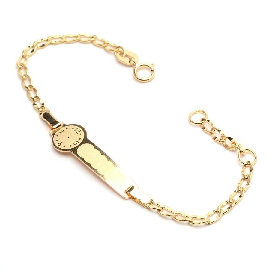6eae03d1c253 Pulsera Oro Placa Reloj
