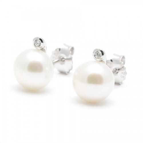 Pendientes Plata Perla Natural