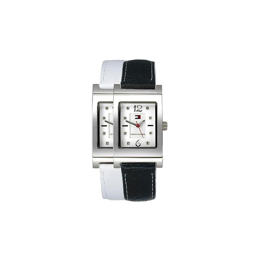 Reloj Chica Tommy Correa Reversible Blanca Negra 1780566