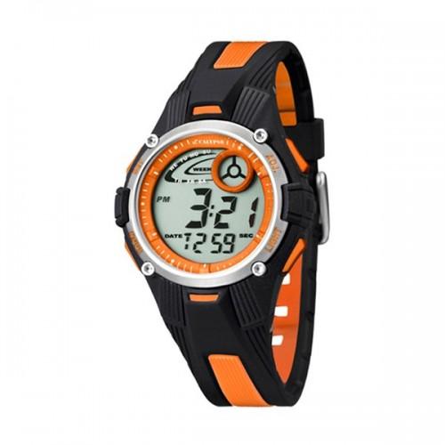 Reloj Calypso Digital Naranja Negro