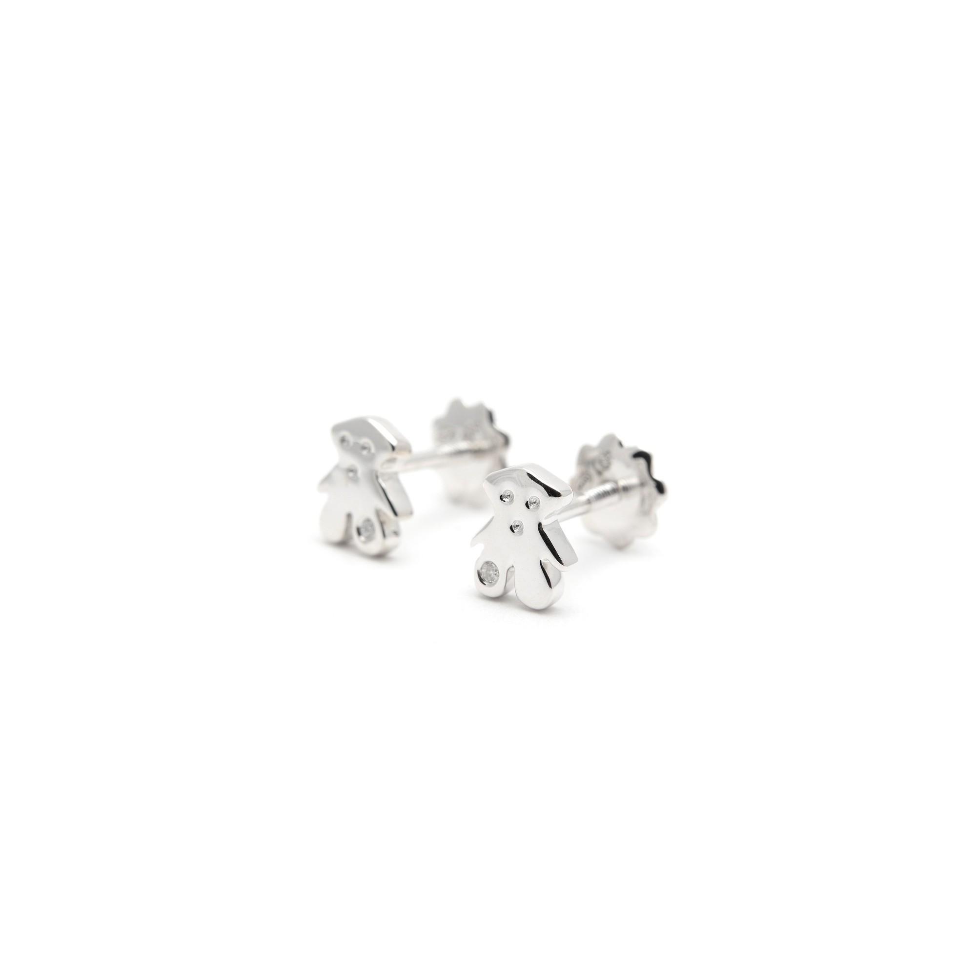 selección premium 52ca6 5465e Pendientes Oro Tous Bebé Niña Infantil Rosca Osito Diamante