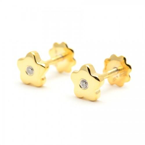 Pendientes Diamantes Oro Estrella