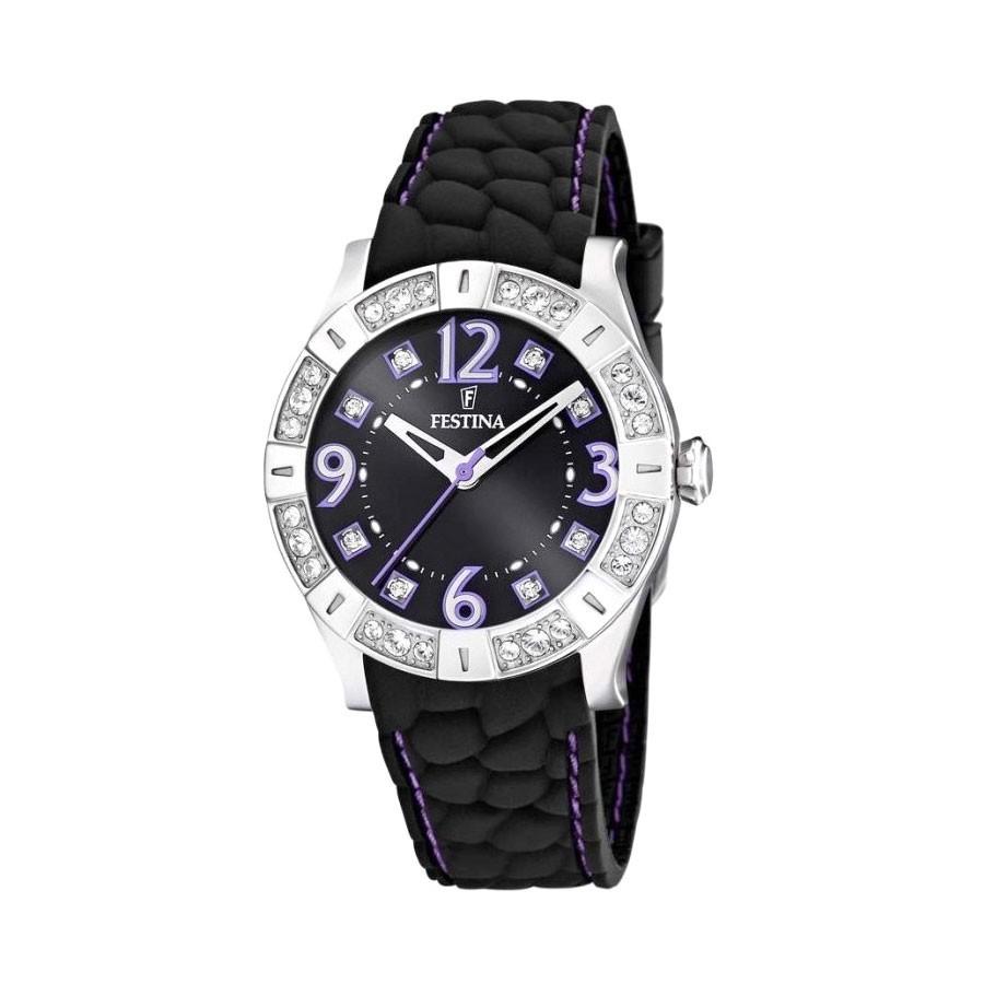 fa41614eab3d Reloj Chica Festina Goma Negra F16541 8