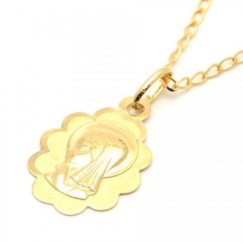 Medalla Oro Bebé Virgen Niña