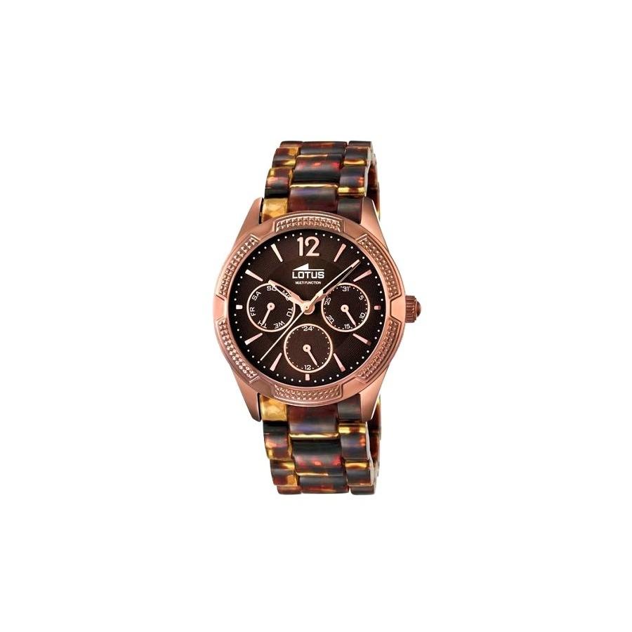 5bbda8f08344 Reloj Lotus Chica Marrón Brazalete Plástico 15928 2