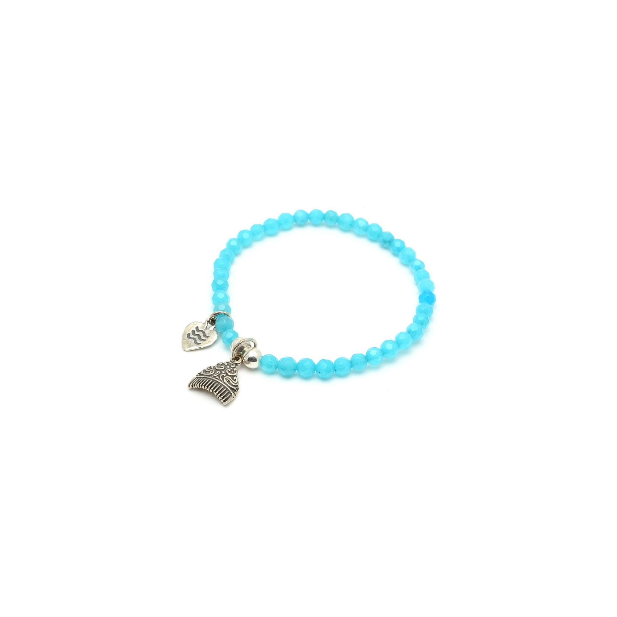 9b029597d255 Pulsera Plata Chica Niña Fallas Peineta Bolas Azules