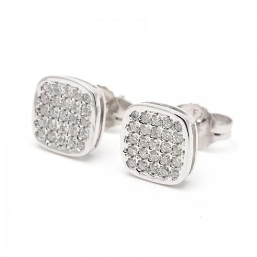 Pendientes Diamantes Oro Blanco