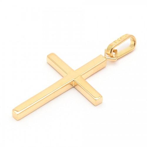 Cruz Oro Tubo Cuadrado
