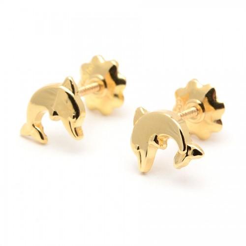 Pendientes Oro Delfín