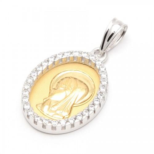 Medalla Oro Virgen Niña Circonitas