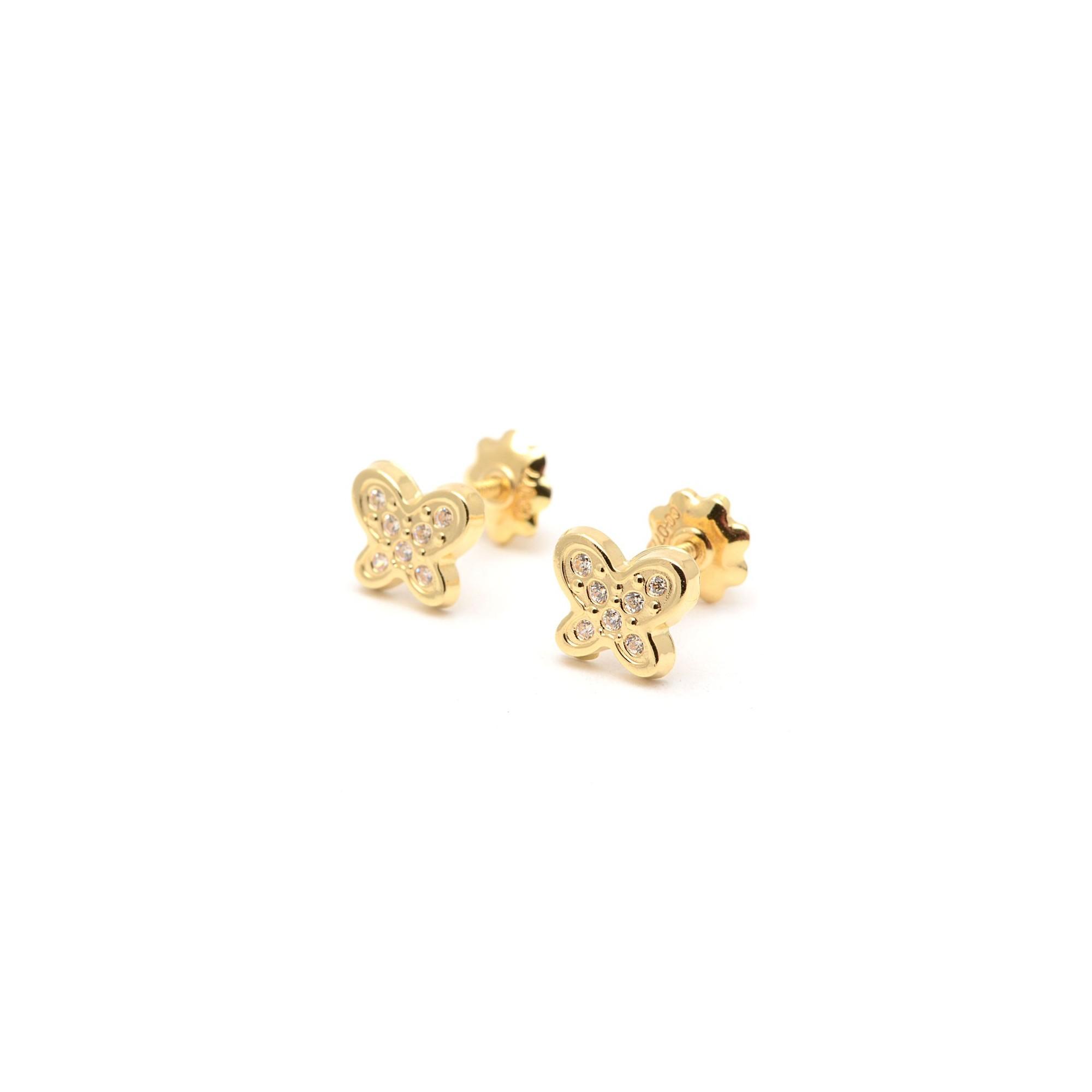 9ce6a35e3eb0 pendientes mariposa circonitas - Los pendientes con forma de animales