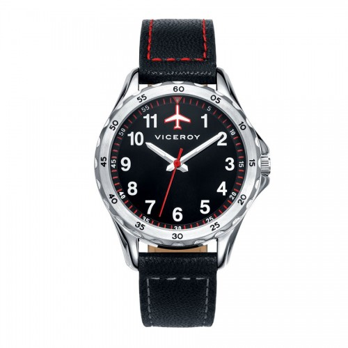 Reloj Viceroy Niño Avión Correa Negra
