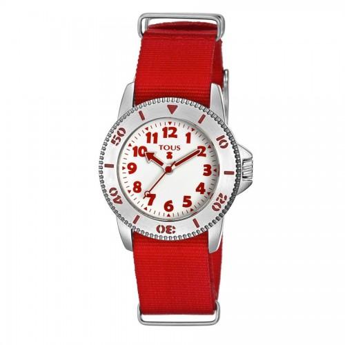 Reloj Tous Correa Tela Aquatous Rojo