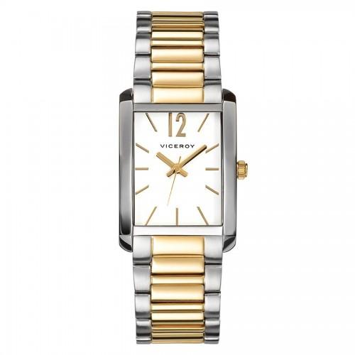Reloj Viceroy Cuadrado Brazalete Dorado