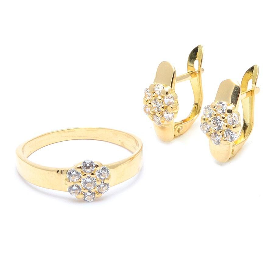 61cb758c1aa8 Conjunto Oro Mujer Niña Comunión Rosetón Circonitas