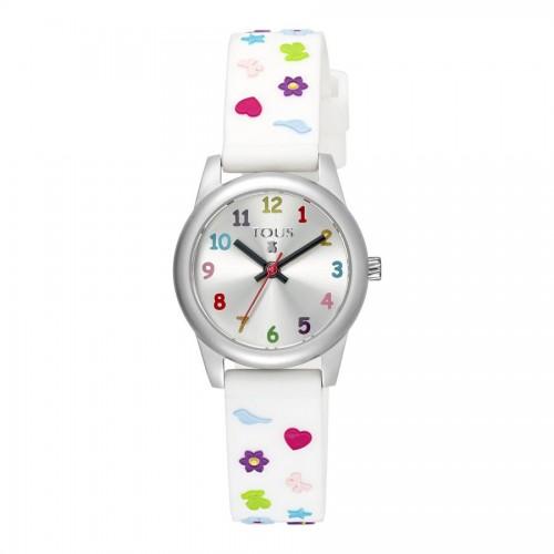 Reloj Tous Cookies Correa Goma Blanca
