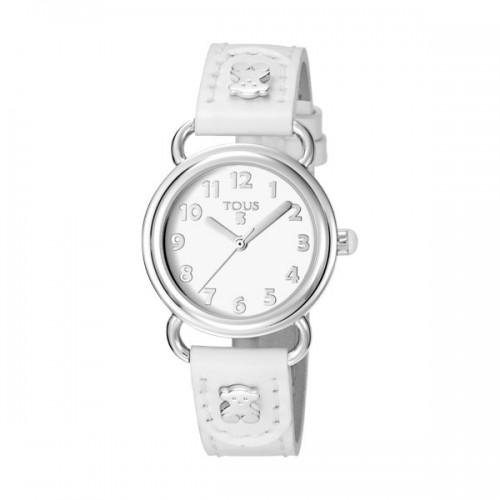 Reloj Tous Baby Bear Correa Blanca
