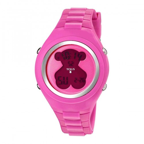 Reloj Tous New Cube Digital Goma Rosa