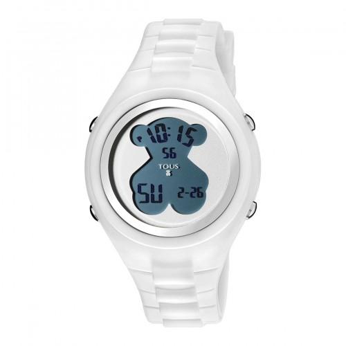 Reloj Tous New Cube Digital Goma Blanca