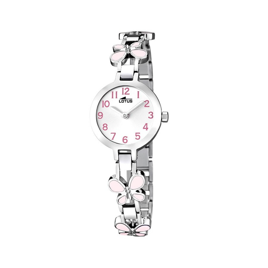 Reloj Lotus Chica Nina Comunion Brazalete Mariposas Rosa Acero 15829 2 af9e7da062f3