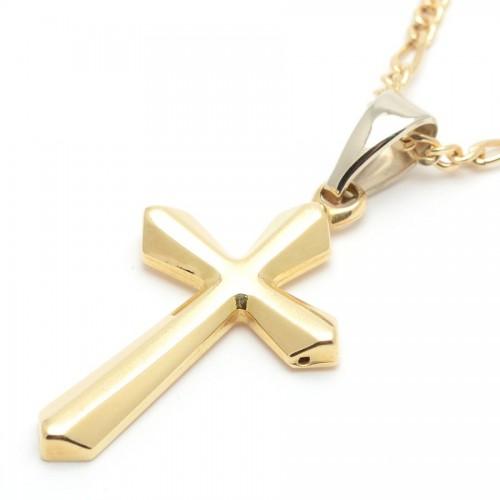 Cruz Oro Facetada
