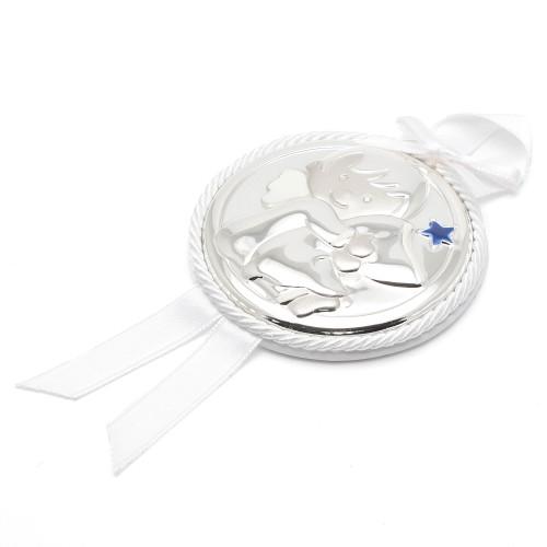Medalla de Cuna Dulces Sueños Lazo Blanco