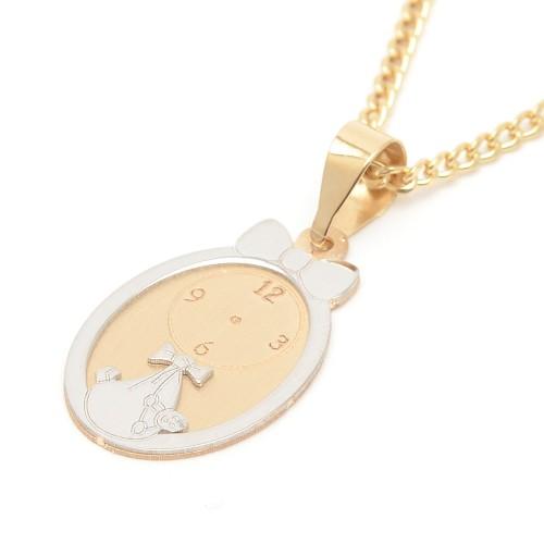 Medalla Oro Bebé Reloj Lazo