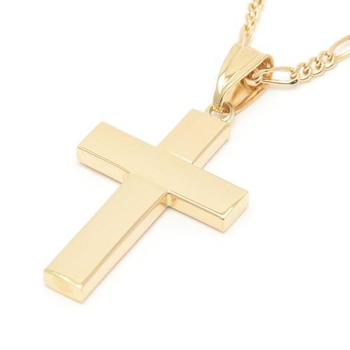 Cruz Oro Lisa Cuadrada