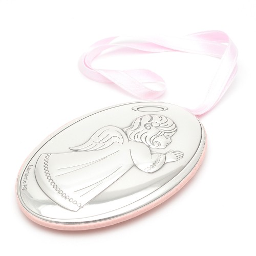 Medalla Cuna Ángel de la Guarda Rosa