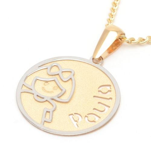 Medalla Oro Niña Nombre