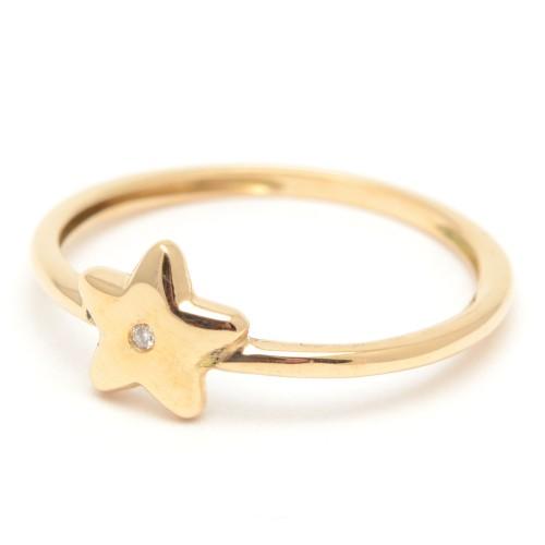 Sortija Oro Estrella con Diamante
