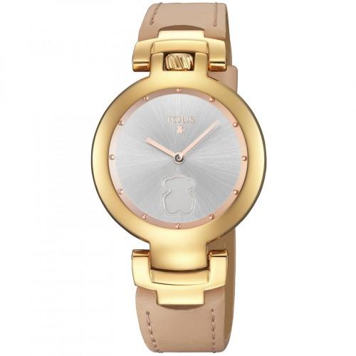 Reloj Tous Crown Dorado Correa Nude