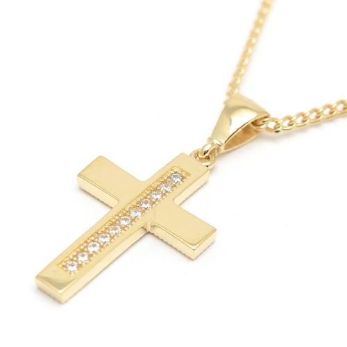 Cruz Oro Tira Circonitas