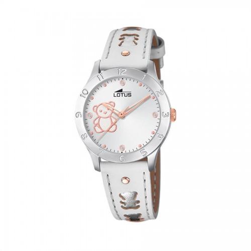 Reloj Lotus Ositos Correa Blanca