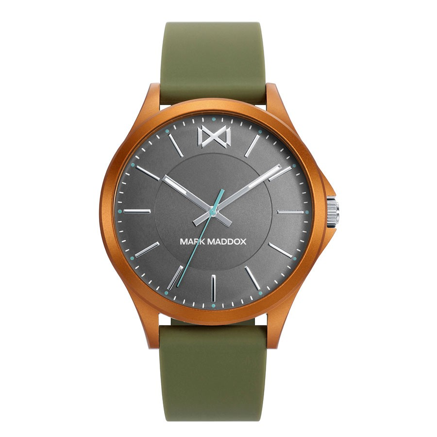 Reloj para chico Mark Maddox con correa de goma verde