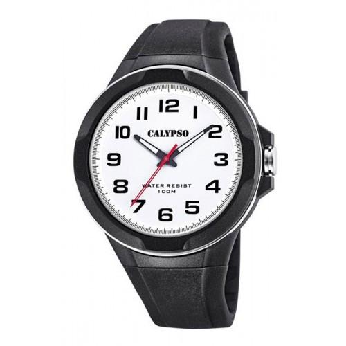 Reloj Calypso Sumergible Correa Goma Negra