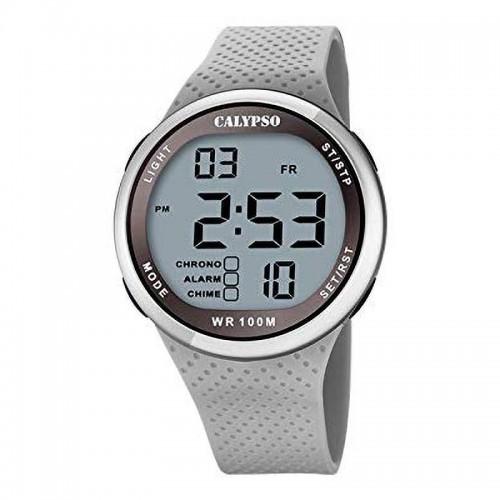 Reloj Calypso Chico Digital Correa Goma Gris