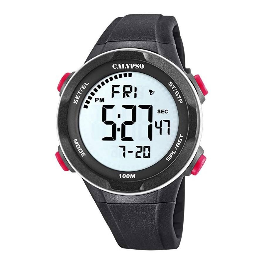 Reloj Calypso Chico Digital Correa Goma Negra