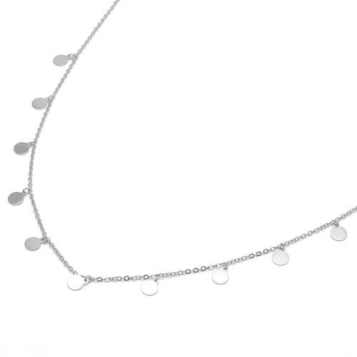 Gargantilla Plata Círculos