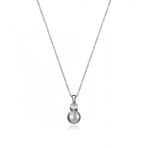 Colgante Viceroy de plata de perla gris
