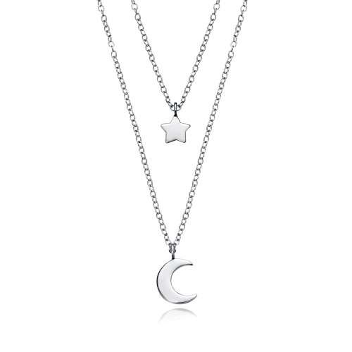 Gargantilla Viceroy doble de plata de Luna y Estrella