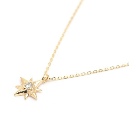 Gargantilla Oro LeCarré Diamante Estrella Polar