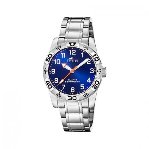 Reloj Lotus Niño Azul Brazalete Acero