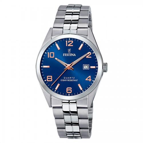 Reloj Festina Azul Brazalete Acero