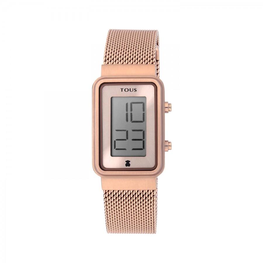Reloj Tous Digital Digisquared Dorado Brazalete Malla