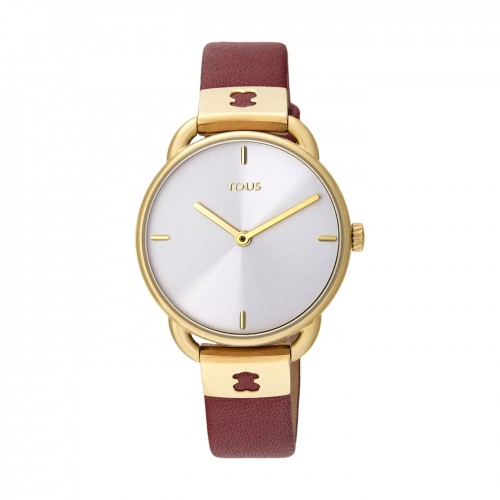 Reloj Tous Let Leather Dorado Correa Roja